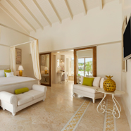 Beach Front Suite Living Room at Eden Roc at Cap Cana, Dominican Republic