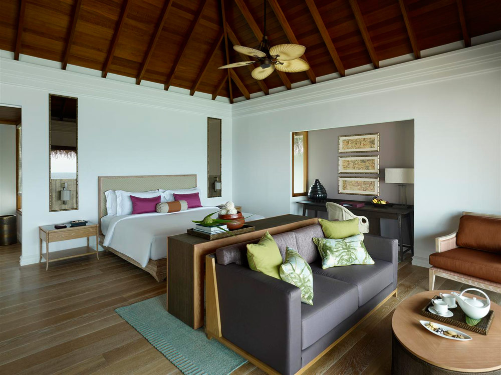 Water Villa Bedroom at Dusit Thani Maldives