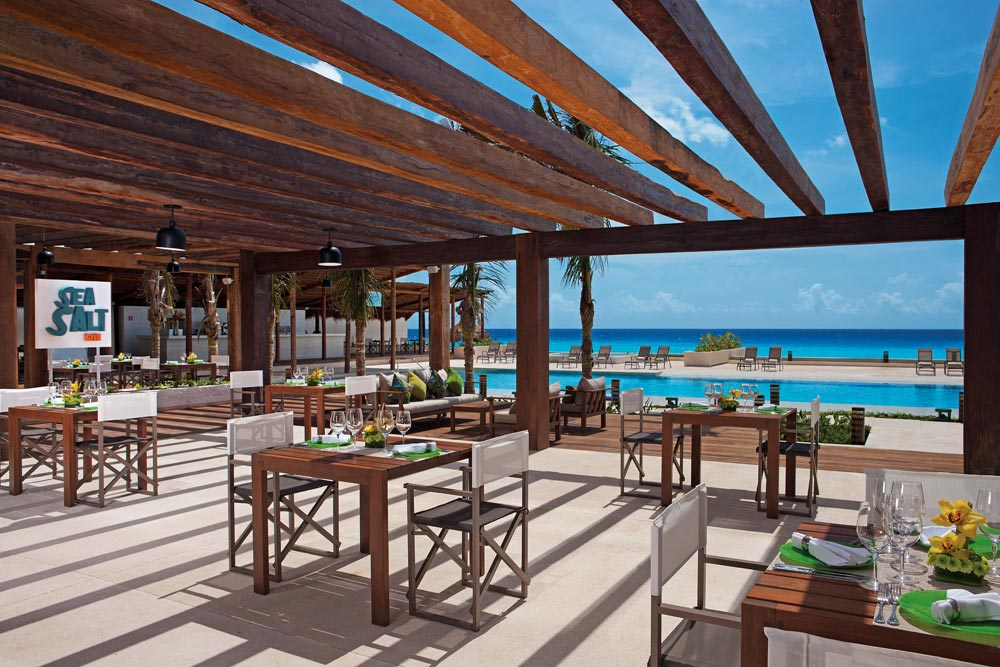 Sea Salt Grill Outdoor Terrace Dining at Secrets The Vine Cancun, Mexico