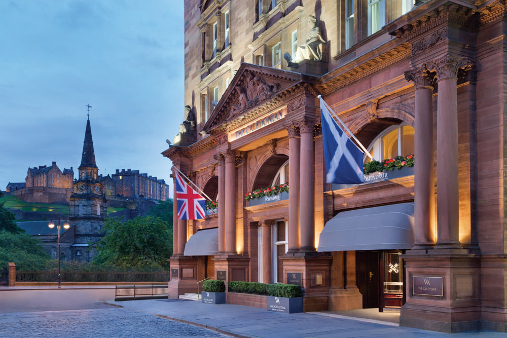 Waldorf Astoria Caledonian Exterior, Edinburgh, United Kingdom