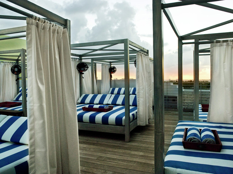 Bed's on the Beach at Soho Beach House