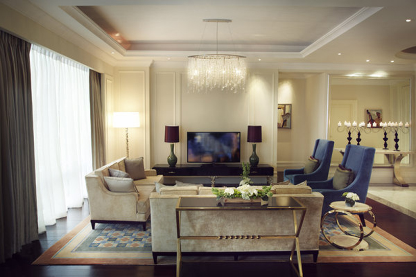 Raffles Makati Presidential Suite Living Room