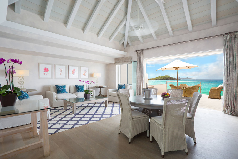 Flamands Villa Living Room at Cheval Blanc Saint-Barth, French West Indies