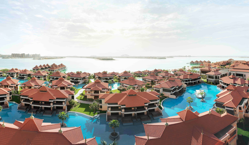 Aerial Resort Panorama View of the Anatara Dubai The Palm