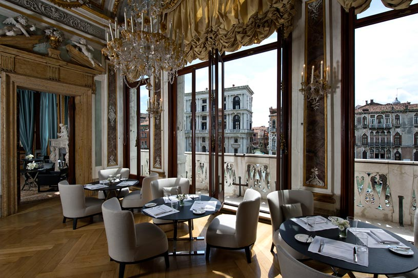 Piano Nobile Dining Room at The Aman Canal Grande Venice Hotel