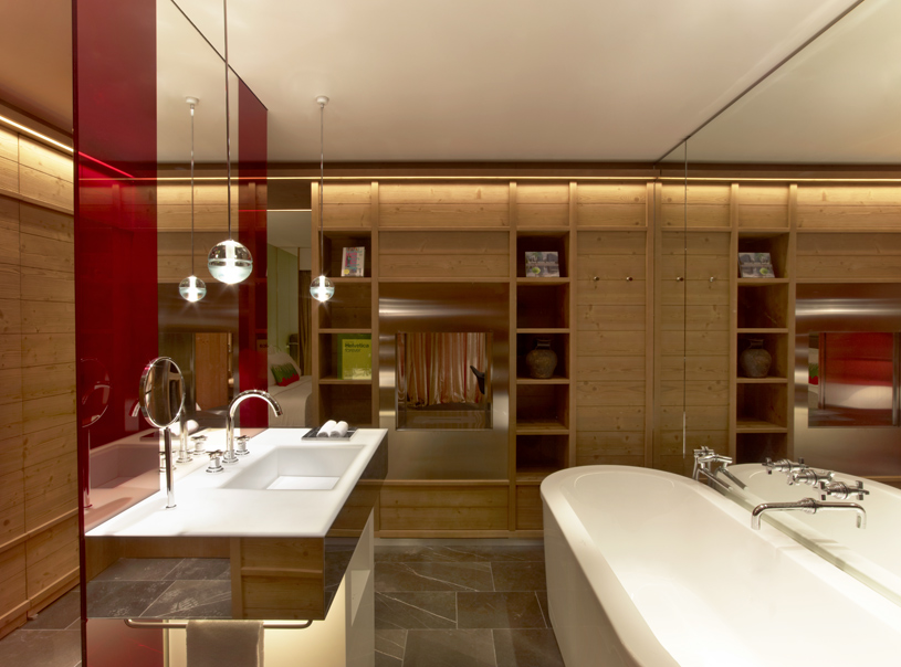 Bathroom at The W Verbier