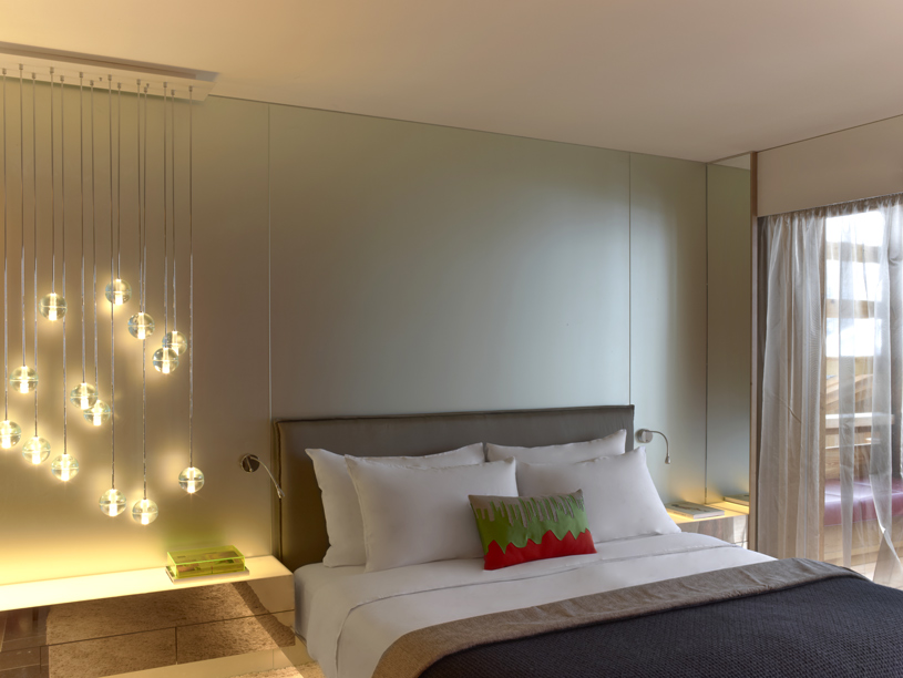 Guest room at The W Verbier Hotel