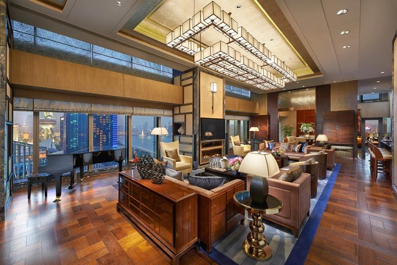 Presidential Suite Living Room at The Shanghai Pudong