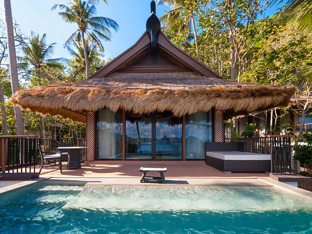Exterior of a Pool Villa at Pangulasian Island Resort