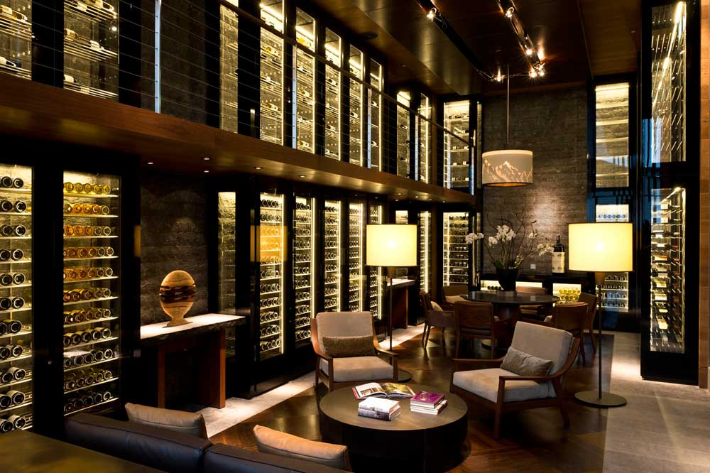 The Wine Library at Chedi Andermatt