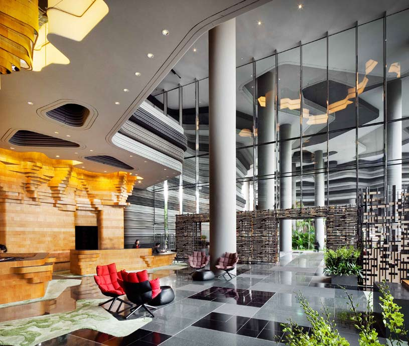 Lobby Area of Parkroyal On Pickering