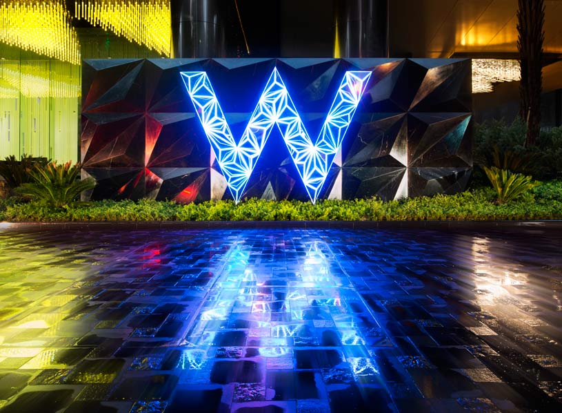 Exterior Sign for The W Guangzhou Hotel