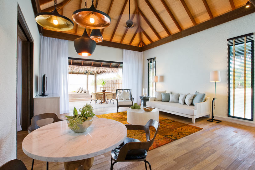 Garden Villa Living Area at Maalifush Como