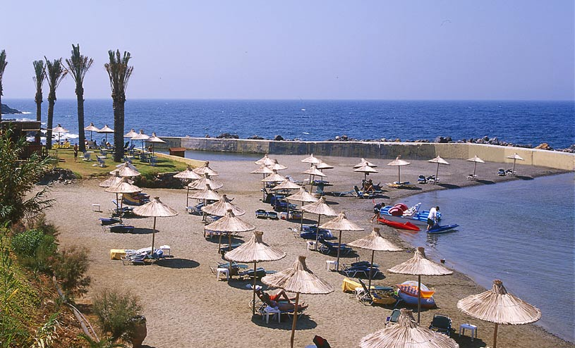 Beach at The Minos Imperial Hotel