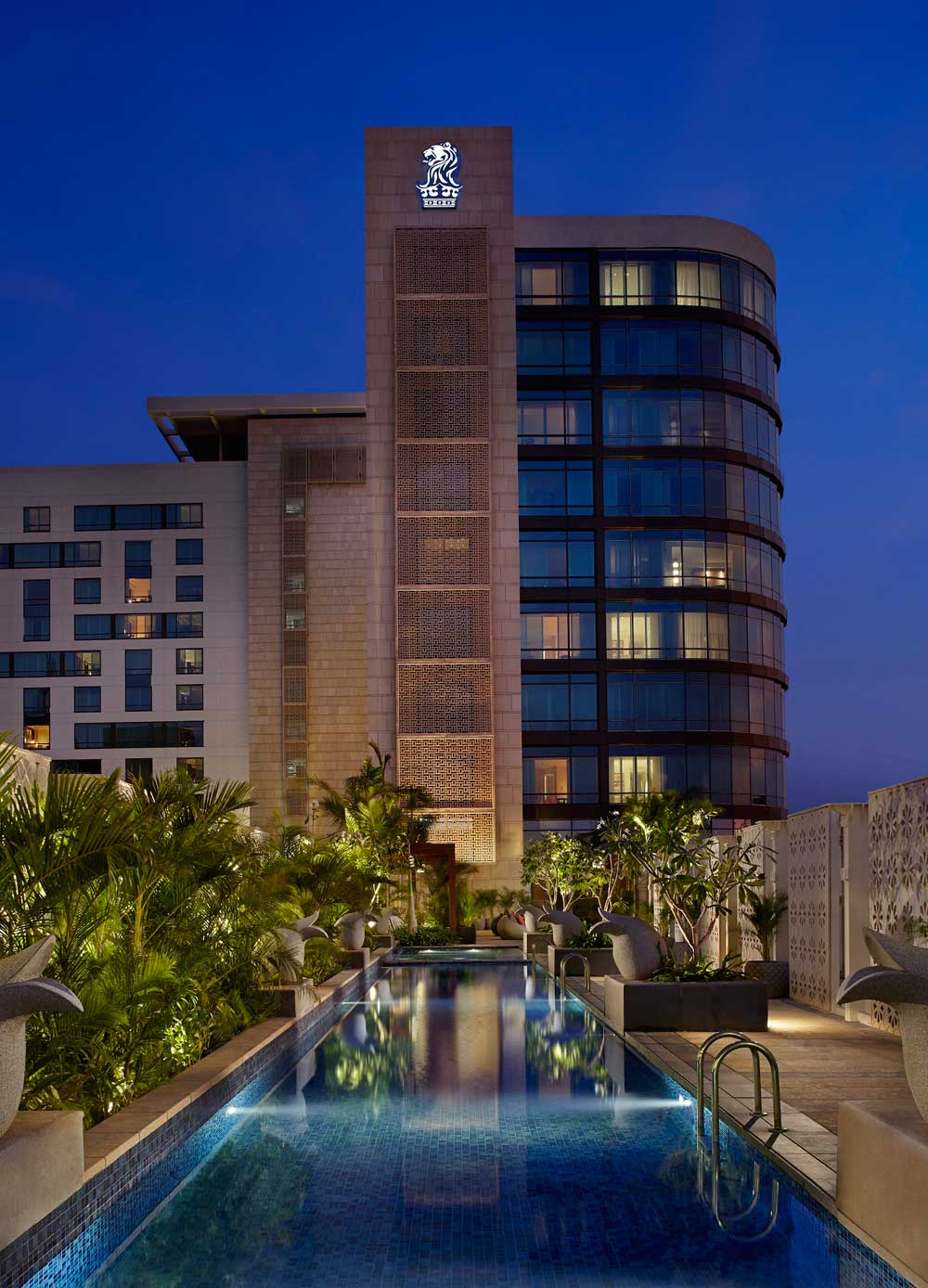 Exterior of Ritz Carlton Bangalore