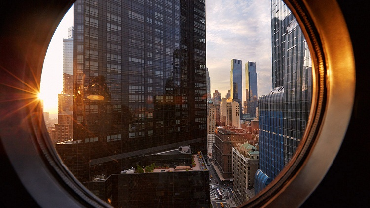Viceroy New York-View from the Porthole Window.