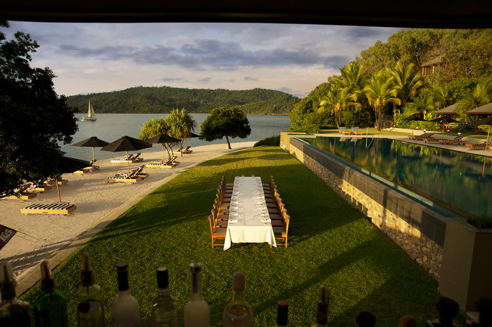 Poolside conference, wedding, or event at qualia on Hamilton Island