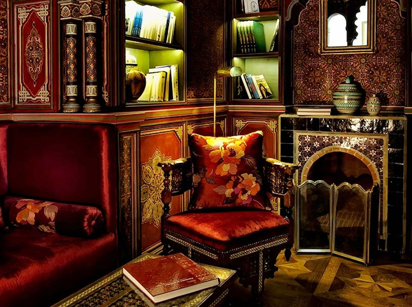 Library at The Palais Faraj Hotel