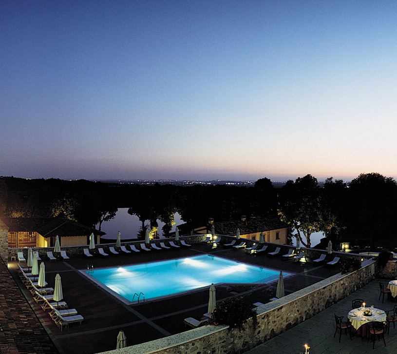 Night Pool View at The Palazzo Arzaga Spa and Golf Resort