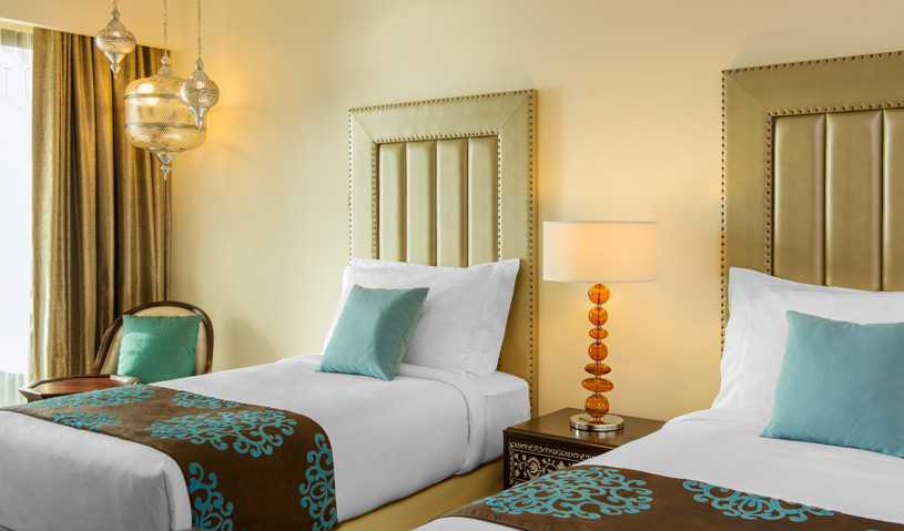 Twin Room at The Ajman Saray Hotel