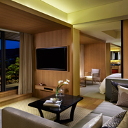 Garden Suite terrace view at The Ritz Carlton Kyoto