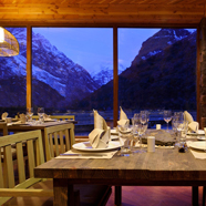 Dining at Puma Lodge, Rancagua, 