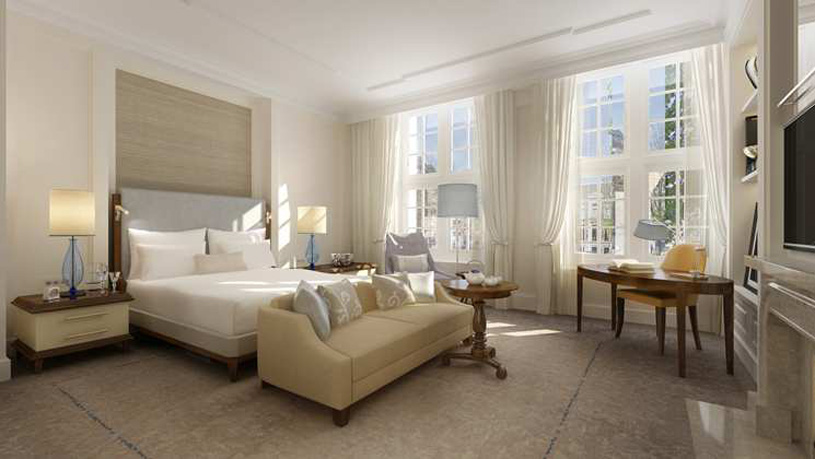 Guestroom at The Waldorf Astoria Amsterdam Hotel