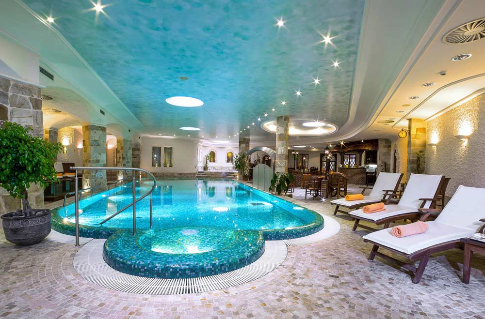 Indoor Pool at Carlsbad Plaza, Karlovy Vary,  Czech Republic