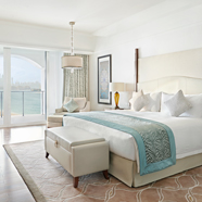 King Premier Suite Bedroom at Dubai Palm Jumeirah
