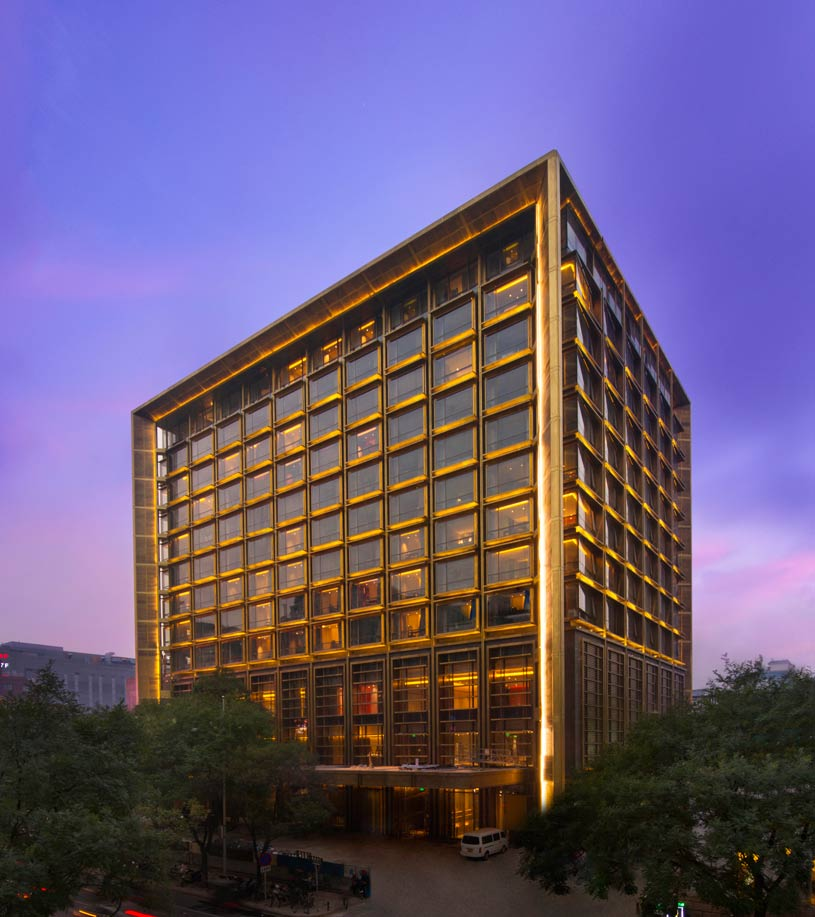 Exterior of Waldorf Astoria Beijing