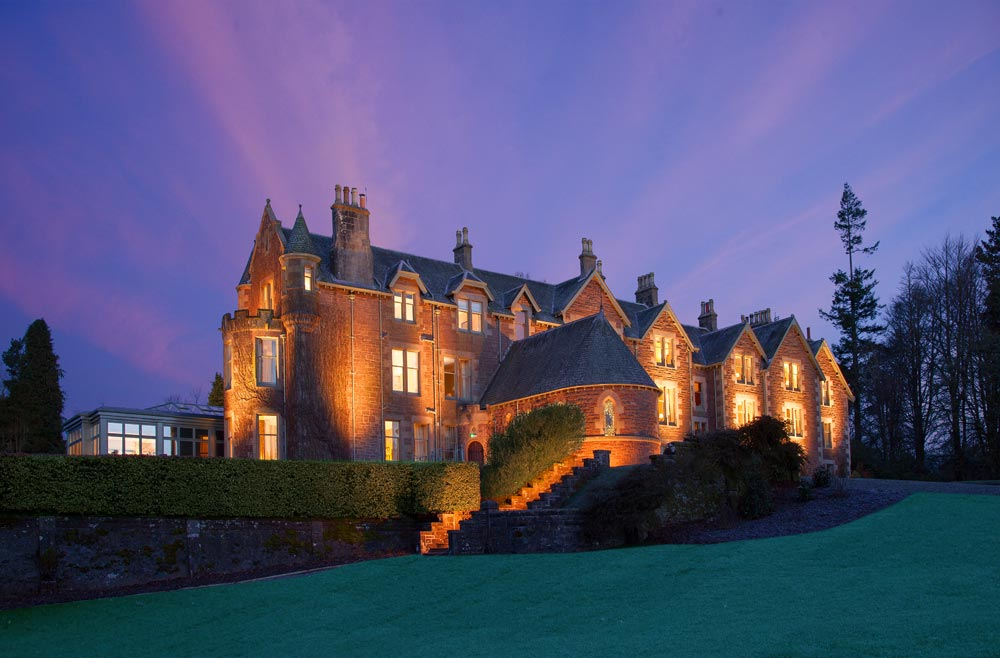Exterior of Cromlix House Hotel
