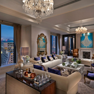 Living Area of Presidential Suite at Mandarin Oriental Taipei, Taiwan