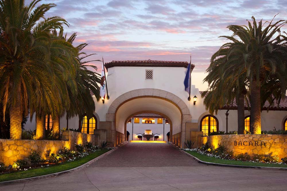 Exterior of the Bacara Resort and Spa in Santa Barbara