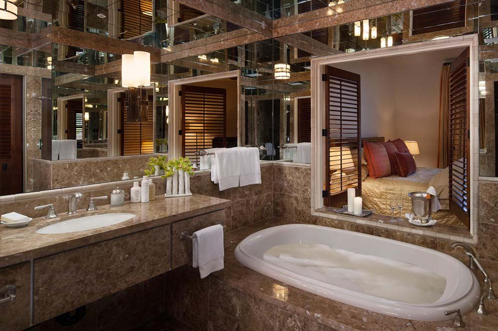 Best bathrooms bacara resort and spa five star alliance for 5 star hotel bathroom designs