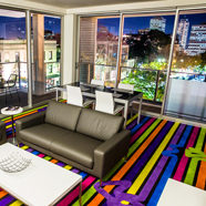 Cityscape Lounge at ADGE Apartment Hotel Sydney