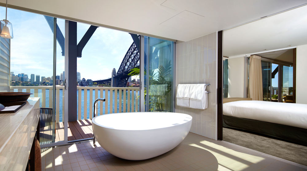Bath and Bedroom at Pier One Sydney Harbour
