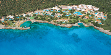 Aerial View of Elounda Mare Hotel Crete, Greece