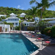 Pool and Exterior of Villas at Hotel Taiwana, St. Barthelemy