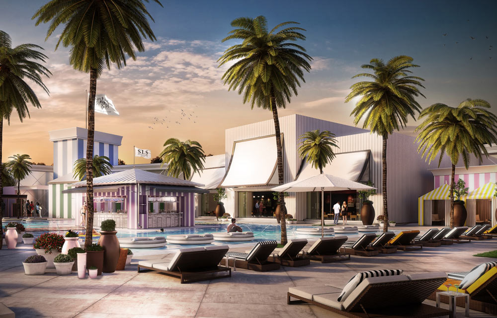 Main Pool at SLS Las Vegas