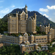 Exterior of the Castle Hotel Dalian, China