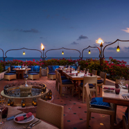 Al Barakat Restaurant with View of Ocean at Four Seasons Resort Maldives at Landaa Giraavaru