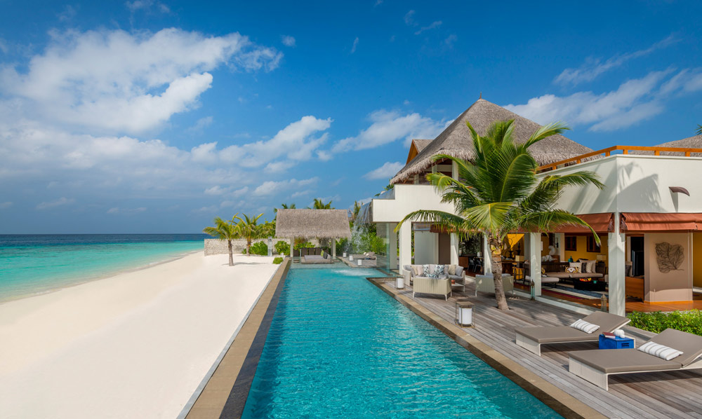 Three Bedroom Landaa Estate Suite with private pool at Four Seasons Resort Maldives at Landaa Giraavaru