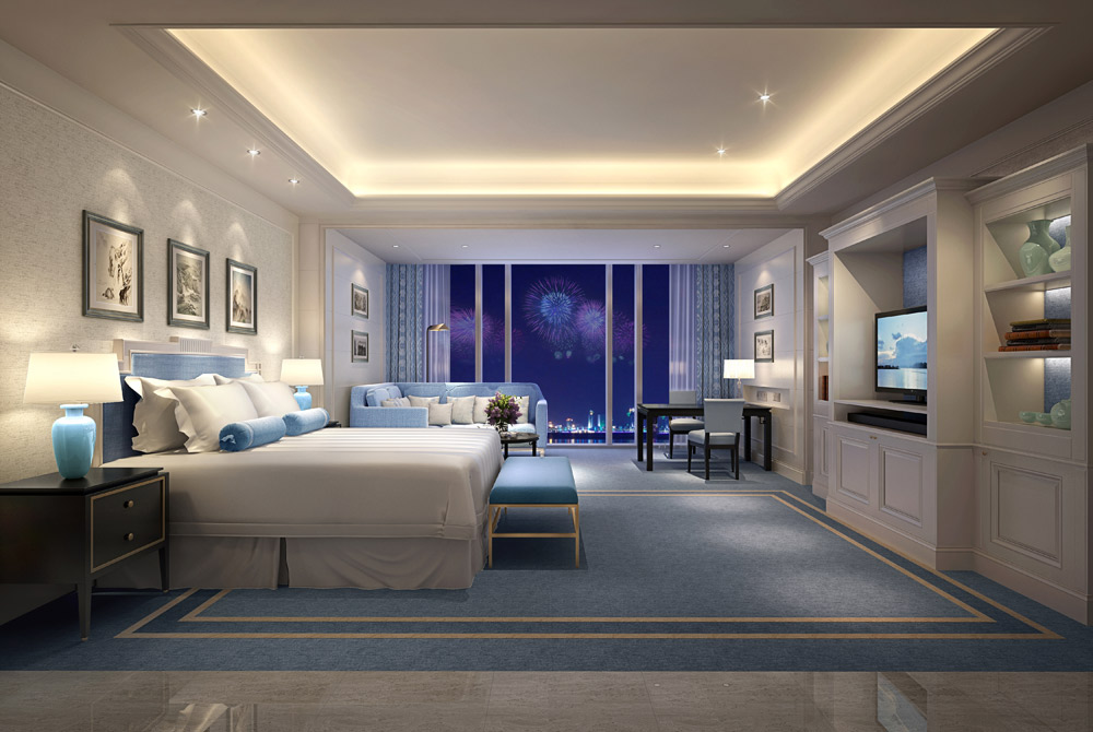 Guest Room at The Azure Qiantang, Hangzhou