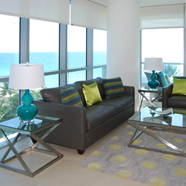 Living Area of Guest Apartment at Churchill Suites Monte Carlo, Miami Beach