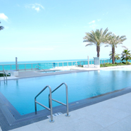 Fifth Floor Infinity Pool at Churchill Suites Monte Carlo, Miami Beach