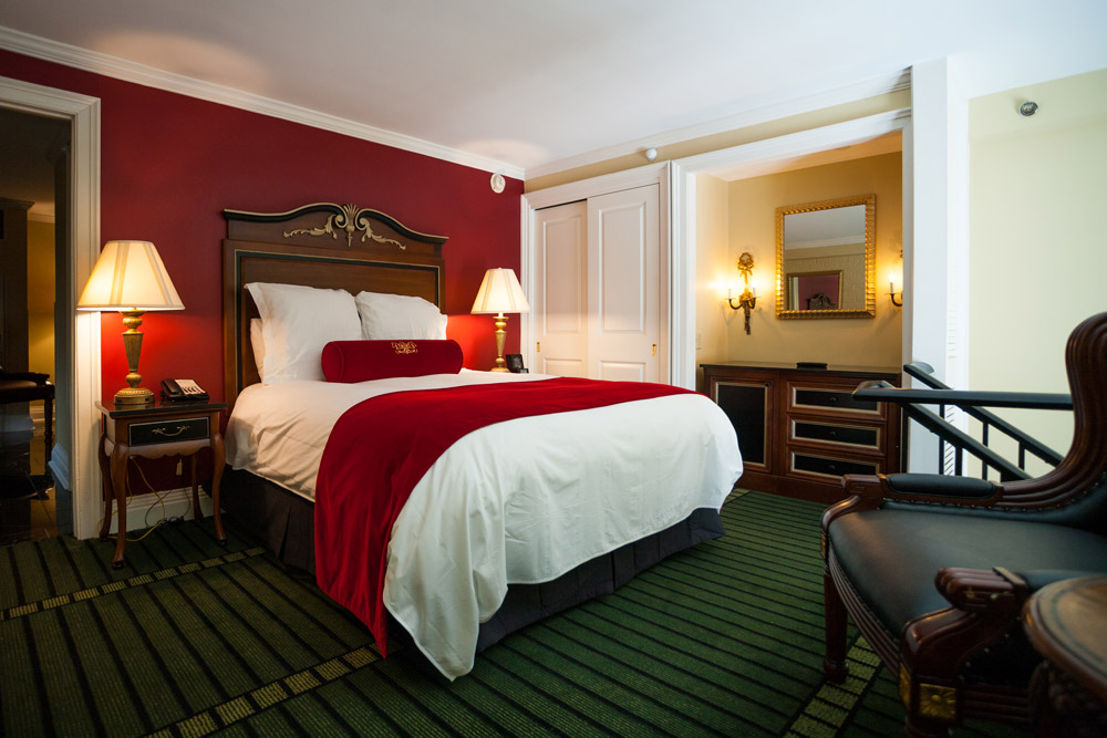 Guest room at the Bourbon Orleans Hotel